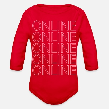 Online Online - Organic Long-Sleeved Baby Bodysuit