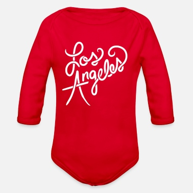 Los Angeles Los Angeles California - Organic Long-Sleeved Baby Bodysuit