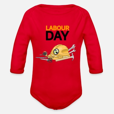Labor Day labor day - Organic Long-Sleeved Baby Bodysuit