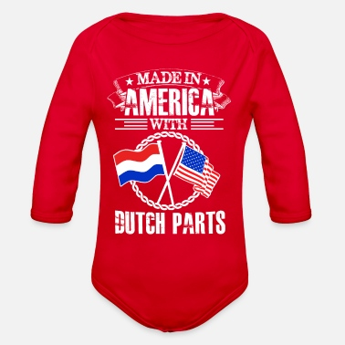 Made in america with dutch part - Organic Long-Sleeved Baby Bodysuit