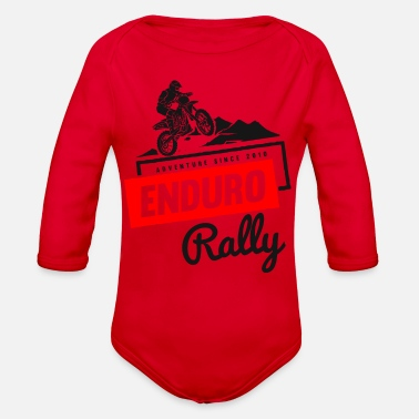 Rally Enduro Rally - Organic Long Sleeve Baby Bodysuit