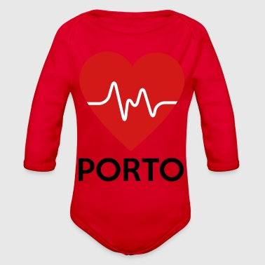 Heart Porto - Organic Long Sleeve Baby Bodysuit