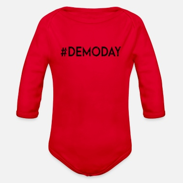 Demo Demo Day - Organic Long Sleeve Baby Bodysuit