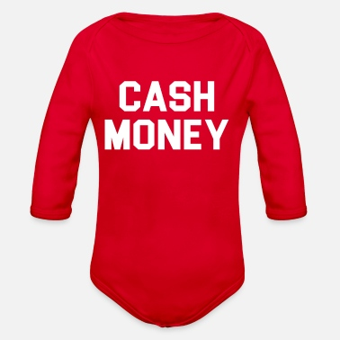 Cash Cash money - Organic Long-Sleeved Baby Bodysuit
