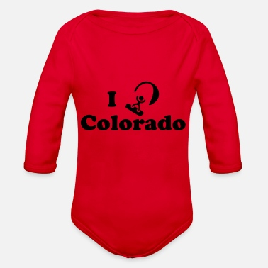 Kiteboard colorado kiteboarding - Organic Long Sleeve Baby Bodysuit