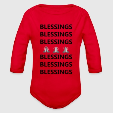 Blessings on Blessings - Organic Long Sleeve Baby Bodysuit