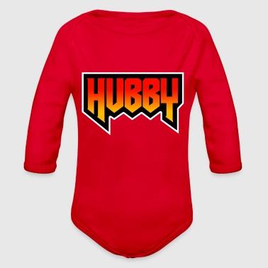 Hubby | Best Hubby Ever ( I Love My Hubby) - Organic Long Sleeve Baby Bodysuit