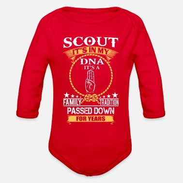 Scouts Boy Scout DNA - Organic Long-Sleeved Baby Bodysuit