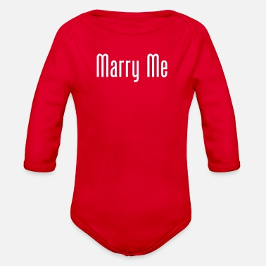 Marry Me Marry Me - Organic Long-Sleeved Baby Bodysuit