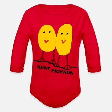 Best-friends BEST FRIENDS - Organic Long Sleeve Baby Bodysuit