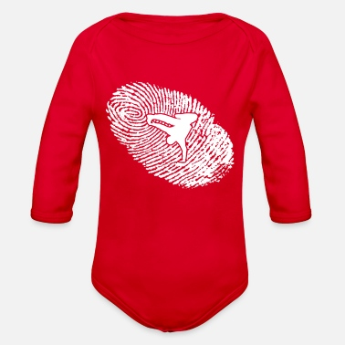 Heart Bre fingerabdruck dna dns geschenk breakdance bboy bre - Organic Long-Sleeved Baby Bodysuit