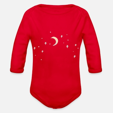 Moon Star Moon & Stars - Organic Long-Sleeved Baby Bodysuit
