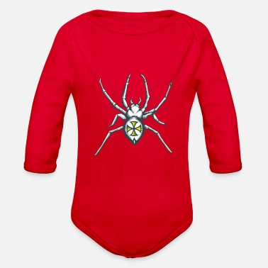 Spider Web Spider, Cross, web, spider web - Organic Long-Sleeved Baby Bodysuit