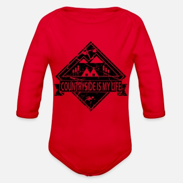 Countryside COUNTRYSID is my life - Organic Long-Sleeved Baby Bodysuit