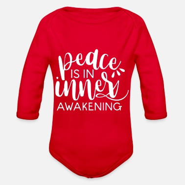 Peace - Organic Long-Sleeved Baby Bodysuit