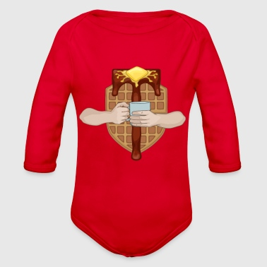The Waffle Lords - Organic Long Sleeve Baby Bodysuit