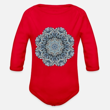 Heaven Mandala heaven - Organic Long-Sleeved Baby Bodysuit