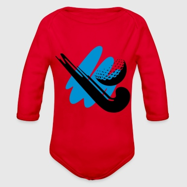 Field Hockey hockey stick - Organic Long Sleeve Baby Bodysuit