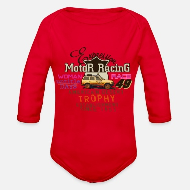Motor Race motor racing - Organic Long Sleeve Baby Bodysuit