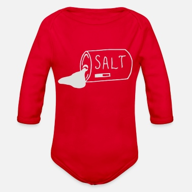 Salted salt - Organic Long-Sleeved Baby Bodysuit
