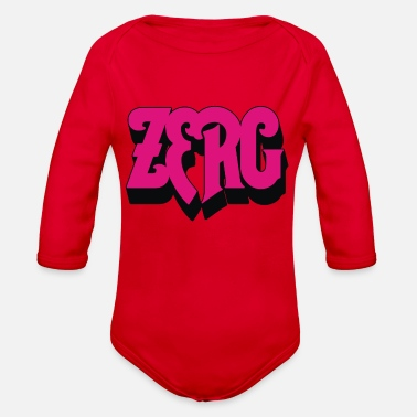 Rush Zerg Rush - Organic Long-Sleeved Baby Bodysuit