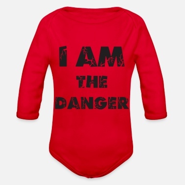 Danger I am The Danger Funny - Organic Long-Sleeved Baby Bodysuit