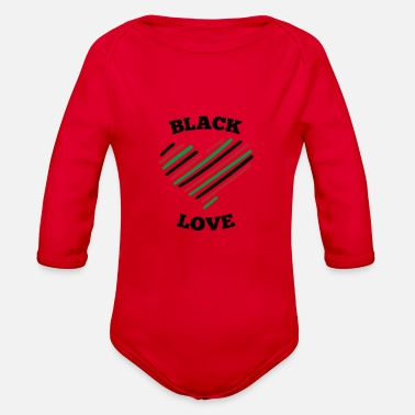 Black Love Black Love - Organic Long-Sleeved Baby Bodysuit