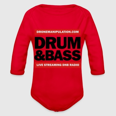 Drum and Bass - Organic Long Sleeve Baby Bodysuit