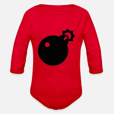 Bombe Bomb - Organic Long-Sleeved Baby Bodysuit