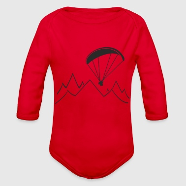 paragliding - Organic Long Sleeve Baby Bodysuit