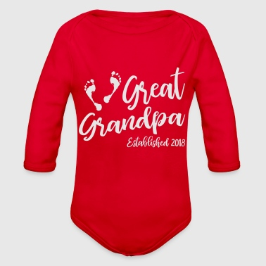 Great Grandpa Established 2018 - Organic Long Sleeve Baby Bodysuit
