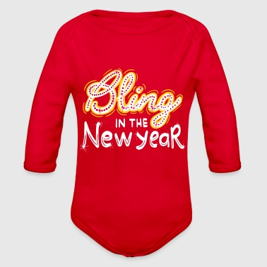 New Years Eve: Bling Into The New Year NYE Gift - Organic Long Sleeve Baby Bodysuit