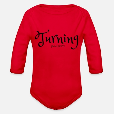 Turn Turning - Organic Long Sleeve Baby Bodysuit