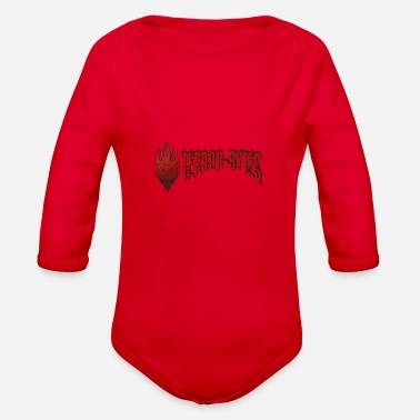 Demo Terror-Bytes Fire Demo - Organic Long Sleeve Baby Bodysuit
