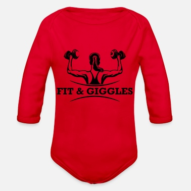 Giggle FiT and Giggles - Organic Long Sleeve Baby Bodysuit