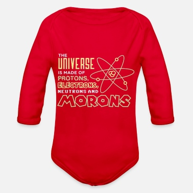 Moron Protons And Morons - Organic Long-Sleeved Baby Bodysuit