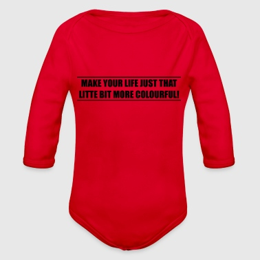 slogan - Organic Long Sleeve Baby Bodysuit