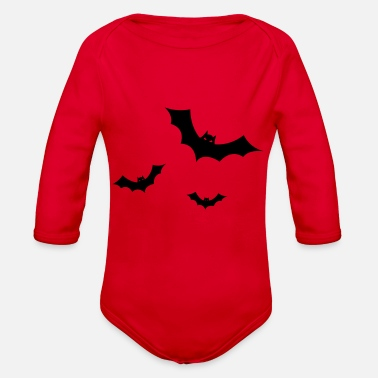 Bats Bat - Bat`s - Organic Long-Sleeved Baby Bodysuit
