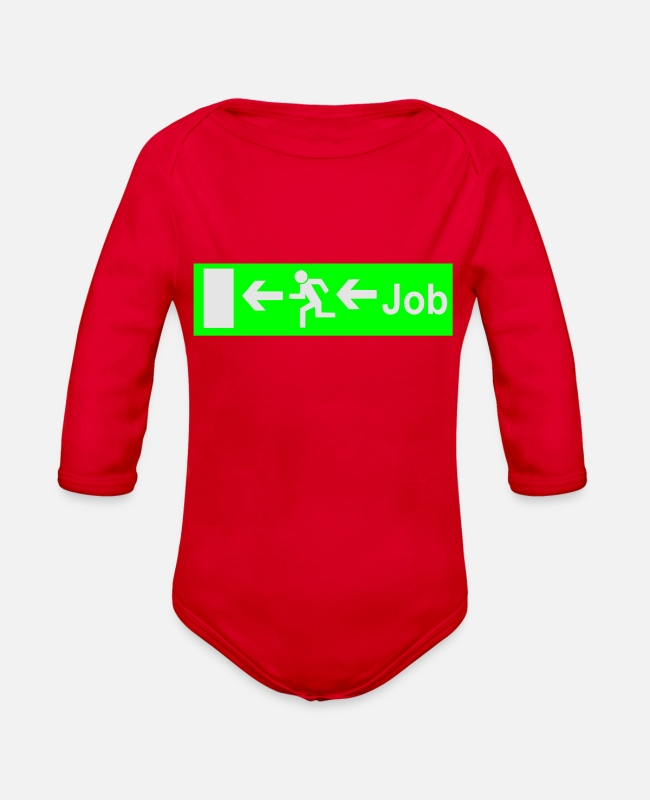 Graduation Baby One Pieces - job - Organic Long-Sleeved Baby Bodysuit red