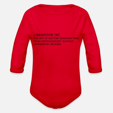 Liberal Liberation - Organic Long Sleeve Baby Bodysuit