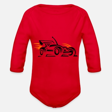 Racing Car racing car - Organic Long-Sleeved Baby Bodysuit