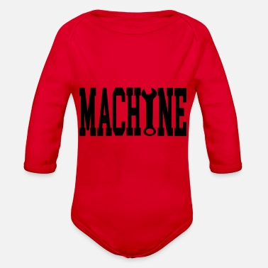 Machine machine - Organic Long-Sleeved Baby Bodysuit