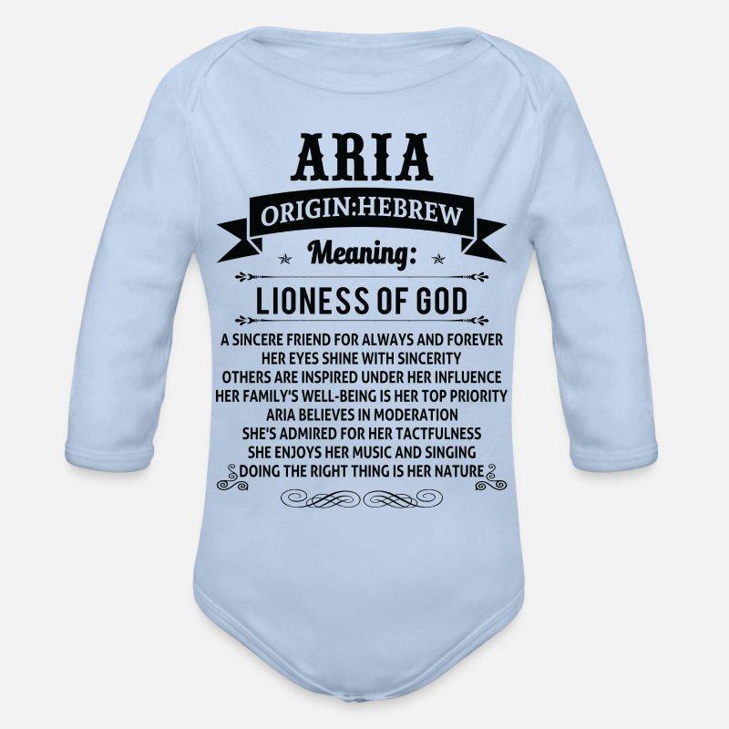Personalized Name Tee Shirts Organic Long Sleeve Baby Bodysuit - sky