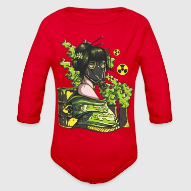 Nuclear mask - Organic Long Sleeve Baby Bodysuit