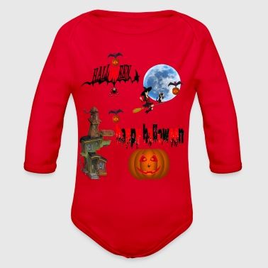 Occasion Happy Halloween and celebrate the occasion - Organic Long Sleeve Baby Bodysuit