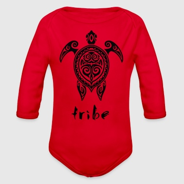 Tribe (Hawaii #2 in Black) - Organic Long Sleeve Baby Bodysuit