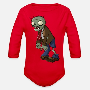 Zombie Plants vs Zombies | Normal Zombie - Organic Long-Sleeved Baby Bodysuit