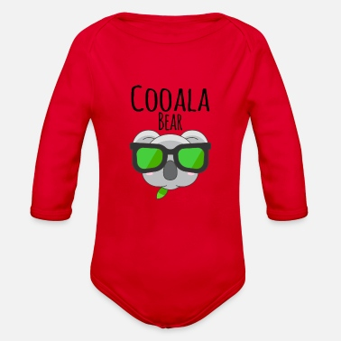 Koala Bear sweet chill cooala - Organic Long-Sleeved Baby Bodysuit
