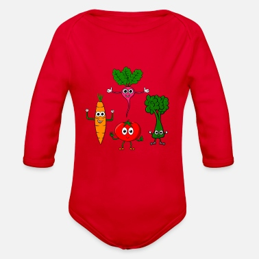 Different Different vegetables - Organic Long-Sleeved Baby Bodysuit