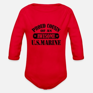 Cousin Proud cousin - Organic Long-Sleeved Baby Bodysuit
